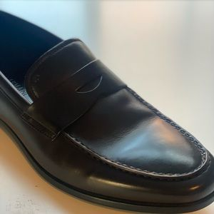 Stylish Armani leather shoes for man, size 10, brown color, handmade in Italy
